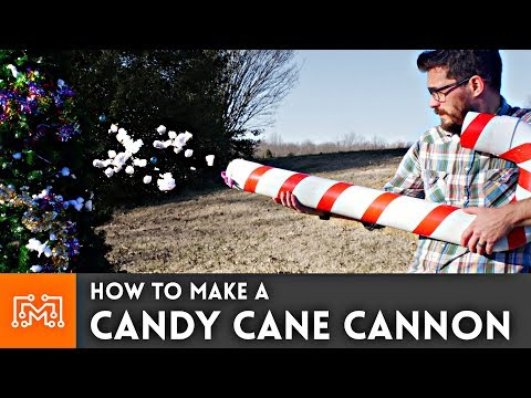 Decorate a Christmas Tree with a Candy Cane Cannon