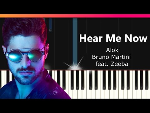 "Alok Bruno Martini feat Zeeba - ""Hear Me Now"" Piano Tutorial - Chords - How To Play - Cover"