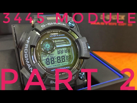 GWF-D1000 FROGMAN Basic G-Shock DIVER WATCH Complications | Casio G-Shock 3445 Module