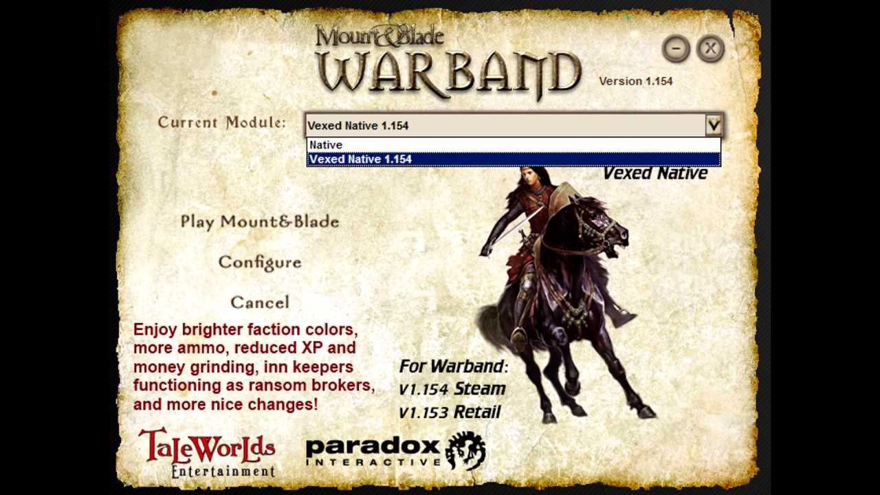 How to Install Mount and Blade Warband Mods (Vexed Native Mod) (UPDATED FOR  WARBAND 1 158)