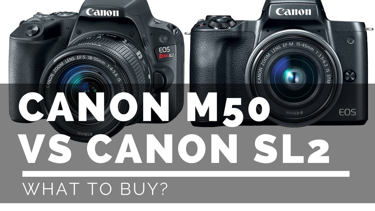 canon m50 vs canon sl2 what should i buy youtube
