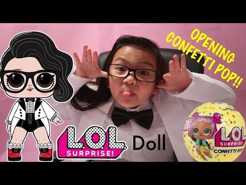 Real Life LOL Surprise Confetti Pop Doll Black Tie Opens Up New LOL Surprise Series