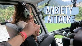 having a panic attack in a helicopter