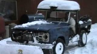 """December of 2005 68 Ford Bronco """"betty the plow truck"""""""