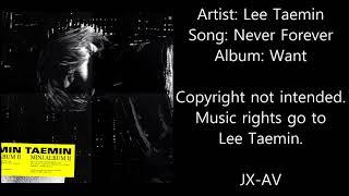Taemin - never forever (audio)