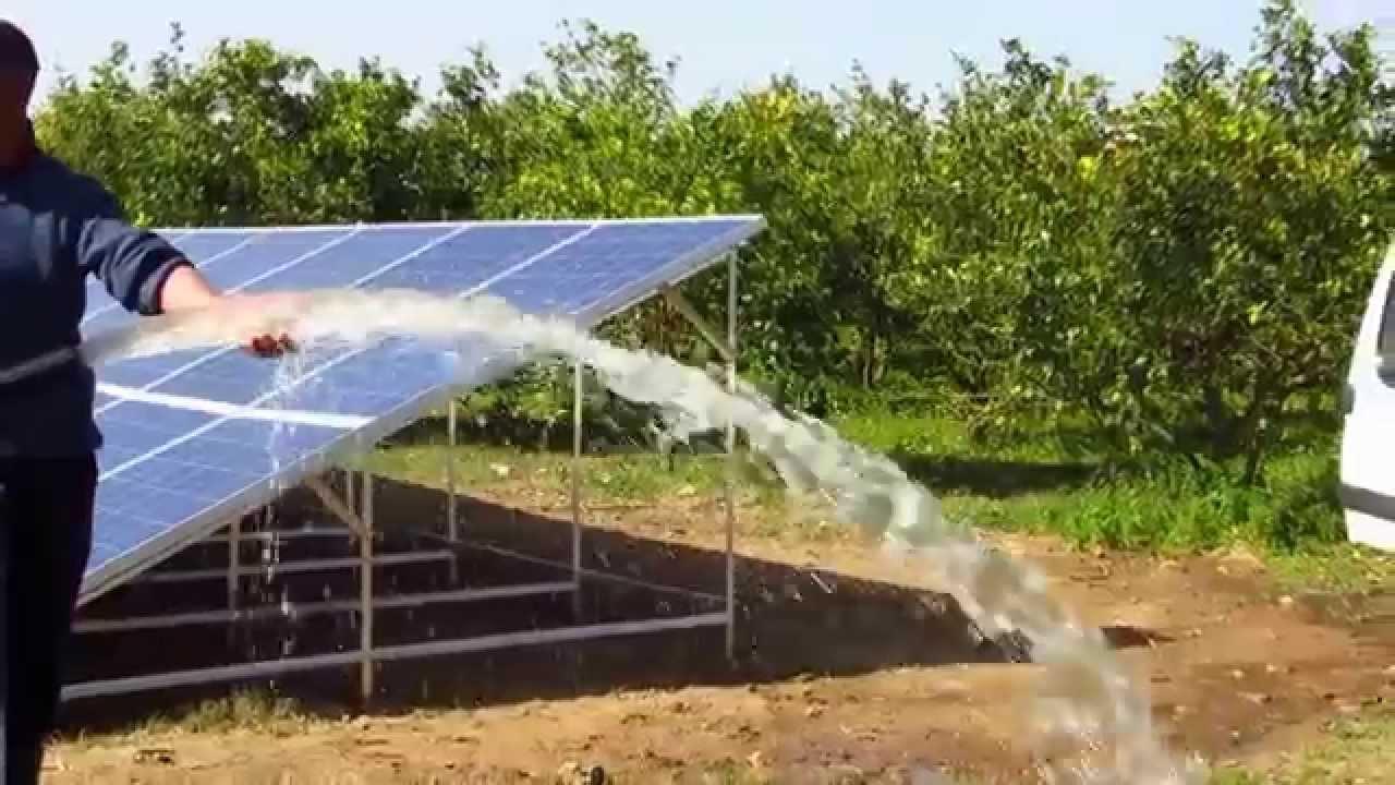 pompe solaire lorentz maroc panneaux allemands neufs par elfa solaire youtube. Black Bedroom Furniture Sets. Home Design Ideas