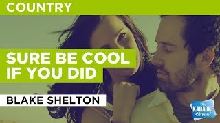 Sure Be Cool If You Did in the style of Blake Shelton | Karaoke with Lyrics