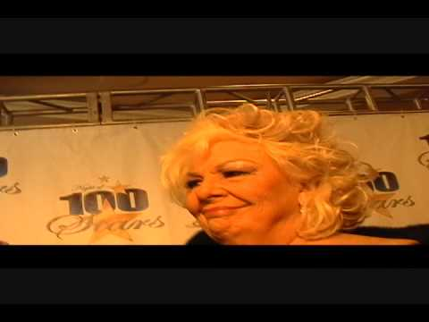 TINA GREY FROM RED CARPET DRIVE INTERVIEWS RENEE TAYLOR AT NORBY WALTERS  NIGHT OF 1OO STARS