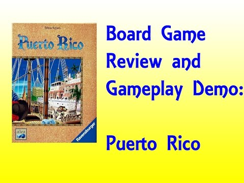 Board Game Review and Gameplay Demo - Puerto Rico