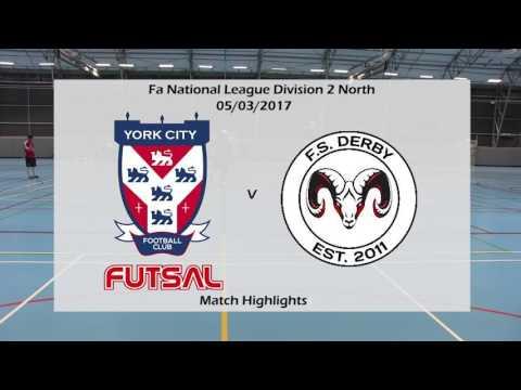 York City FC Futsal 7-2 FS Derby Match Highlights 05/03/2017