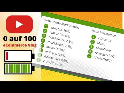 eCommerce Vlog 0-100 #4 Vorhandene Marktplätze optimieren und neue Marktplätze anbinden