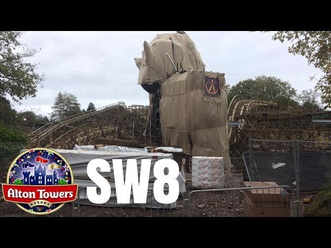 Alton Towers Wicker Man Construction Update - 5th November 2017