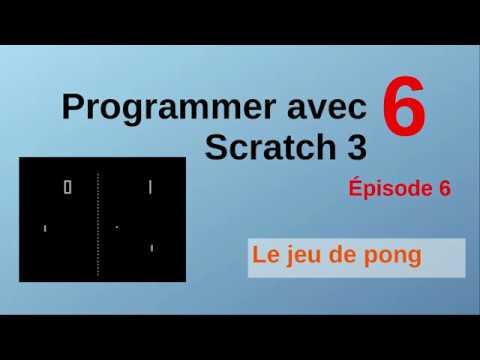 Le jeu de pong avec Scratch. Épisode 6
