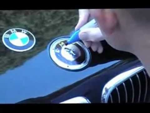 Bmw Hood Emblem Replacement Youtube