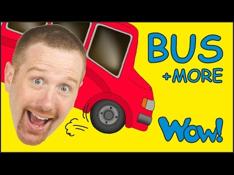 Thumbnail: Wheels On The Bus and MORE from Steve and Maggie | Short Stories for Kids by Wow English TV