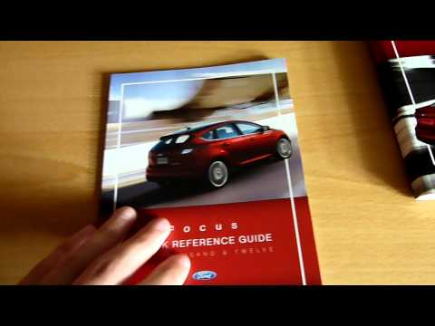 2012 Ford Focus: Owner's books & more