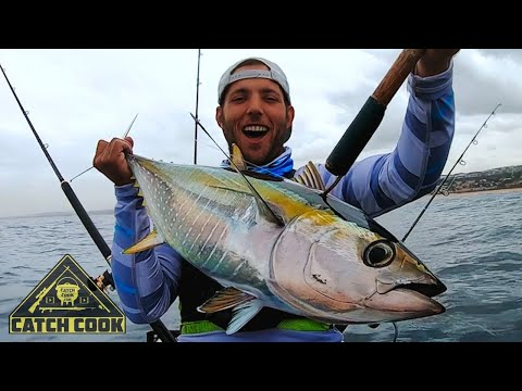Tuna Kayak Fishing - CATCH COOK - South Africa, KZN