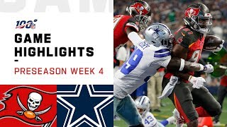 Buccaneers vs. Cowboys Preseason Week 4 Highlights | NFL 2019