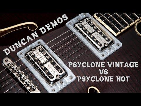 Filter' Tron style pickups Psyclone Vintage vs Hot   Duncan Demo