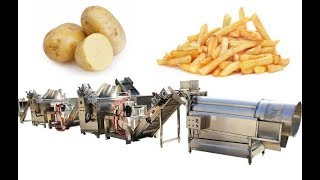 Line of Frozen French Fries Processing|Pre-fried Potato Chips Making Factory