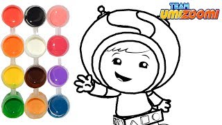 How to Draw & Color Team Umizoomi Geo | Drawing & New Learning 4 Kids | Toddlers Learn Colors HD
