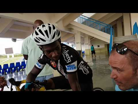Antigua and Barbuda Junior cycling standing starts training