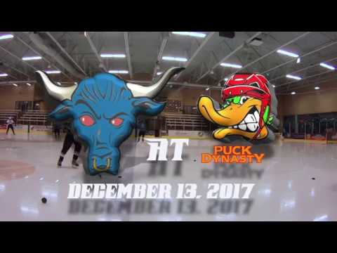 Beer League Hockey | Blue Bulls vs. Puck Dynasty, 12/13/17