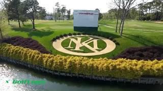 18 Holes:  Natalie plays her favorite hole #18 at Kingsmill Resort VA