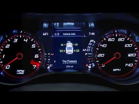 Instrument Cluster Display-Digital dashboard on the car instrument panel of 2018 Dodge Charger