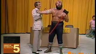 (Best Quality) Joe Leduc Threatens Jerry Lawler with an Axe 1978