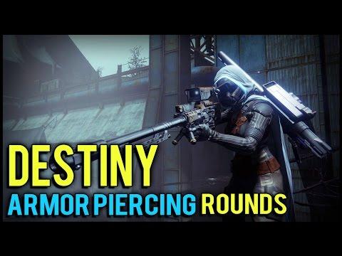 Destiny: How to Shoot through Walls!   Armor Piercing Rounds Benefits, and Secret!