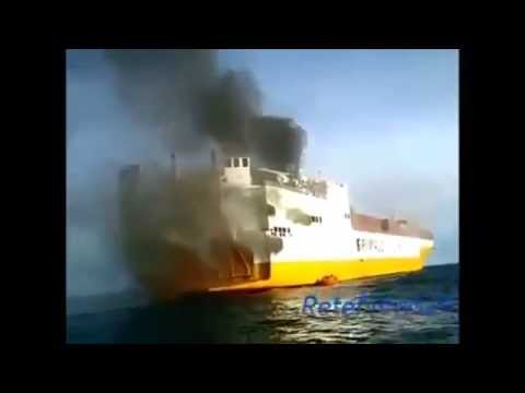 Safety Video Fire on board cargo ship Republica Di Roma