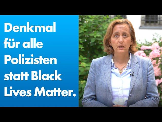 Beatrix von Storch (AfD) - Denkmal für alle Polizisten statt BlackLivesMatter