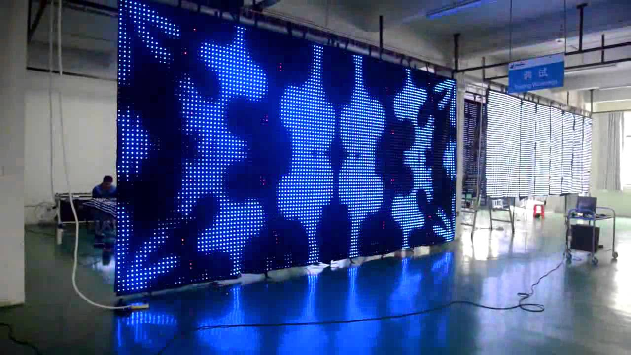 Led curtain concert - P50 Mm Soft Led Video Curtain For Background Decoration