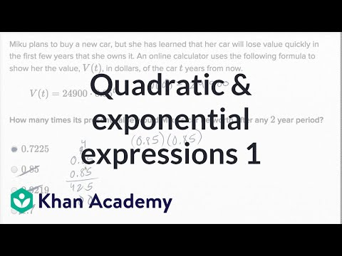 Manipulating Quadratic And Exponential Expressions — Basic Example | Math | New SAT | Khan Academy