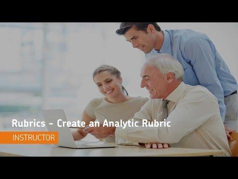 Rubrics - Create an Analytic Rubric - Instructor