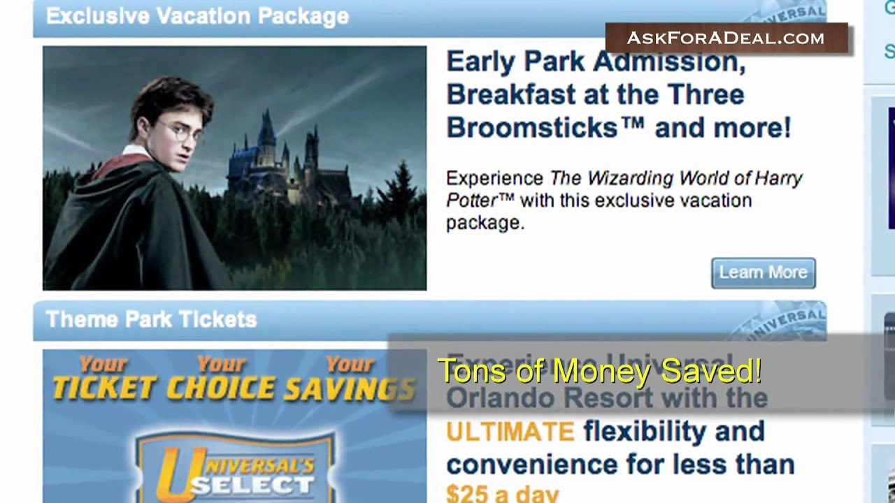 How to use a Universal Studios coupon