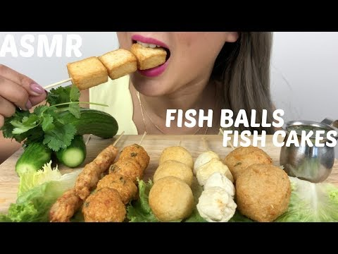 ASMR | FISH BALLS & FISH CAKES | Relaxing Eating Sounds | N.E Let's eat
