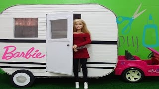 Barbie doll Camper DIY- How to make a doll Camper