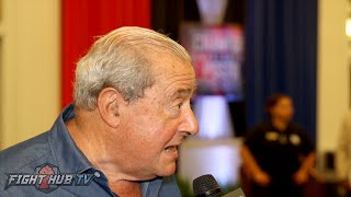 "Bob Arum ""Thurman if you want to fight Pacquiao, tell that to Al & have Al call me, easy right?"""