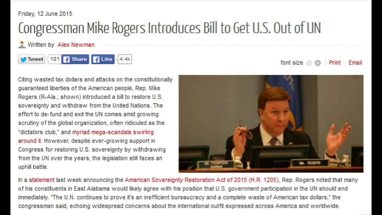 Image result for Mike Rogers Bill to leave UN