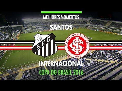 Melhores Momentos - Santos 2 x 1 Internacional - Copa do Brasil - 28/09/2016