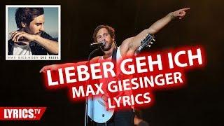"""Lieber geh ich LYRICS   Max Giesinger   Lyric & Songtext   aus dem Album """"Die Reise"""""""