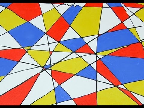 Art Lesson: How to Paint an Abstract Painting - For Kids