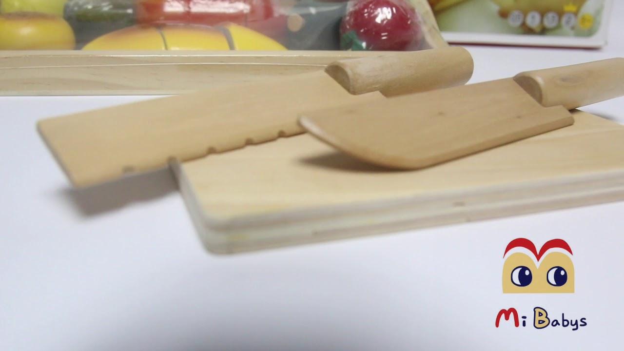木製早餐切切樂 MiBabys咪寶網 - YouTube