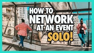 How To Network | Tips for introverts at events using Social Media | Vlog | 9-5 Career Tips