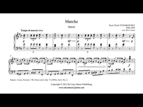 The Nutcracker March Act I No 2 Piano Sheet Music