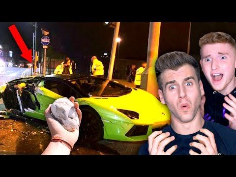 Guy Throws Rock At Expensive Lamborghini (He Was Jealous)