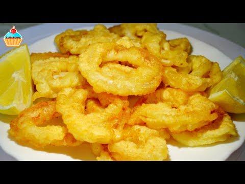 Жареные кольца кальмаров в кляре, рецепт с пошаговыми фото