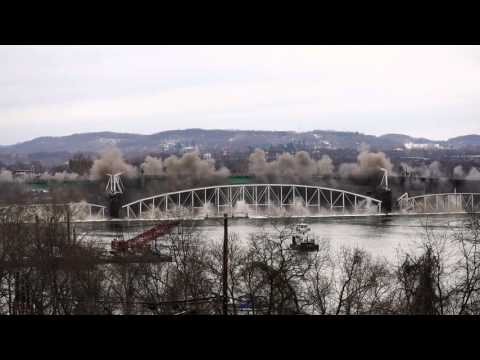 Hulton Bridge Implosion in Pittsburgh HD